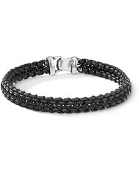 David Yurman - Woven Box Chain Bracelet In Black - Lyst