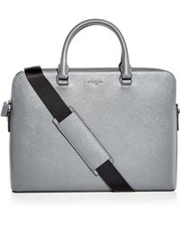 Michael Kors - Harrison Crossgrain Leather Briefcase - Lyst