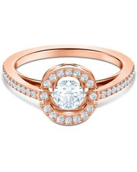 5f2f3cf578231 Lyst - Thomas Sabo Sparkling Circles Sterling Silver Ring in Metallic