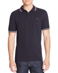 Fred Perry - Tipped Logo Regular Fit Polo Shirt - Lyst