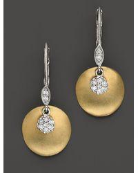 Meira T - 14 Kt. Yellow Gold/diamond Drop Earrings - Lyst