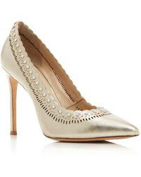 Pour La Victoire - Women's Cerella Embellished Pointed Toe Court Shoes - Lyst