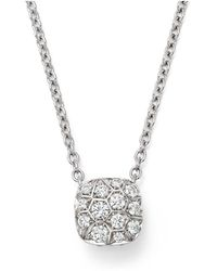 Pomellato - Nudo Necklace With Diamonds In 18k White & Rose Gold - Lyst
