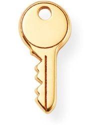 c4b33c748 Zoe Chicco - 14k Yellow Gold Single Itty Bitty Key Stud Earring - Lyst