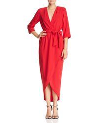 Amanda Uprichard - Provenance Faux-wrap Midi Dress - Lyst
