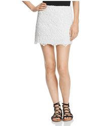 Bailey 44 - Sesame Crochet Mini Skirt - Lyst