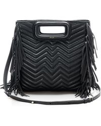 Maje - Fringe Convertible Quilted Leather Crossbody - Lyst