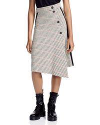 Maje - Jessil Asymmetric Plaid Midi Skirt - Lyst