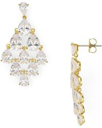 Nadri - Cubic Zirconia Drop Chandelier Earrings - Lyst