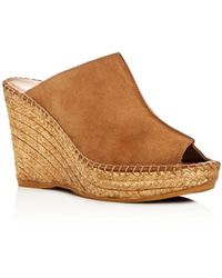 Andre Assous - Women's Cici Leather Espadrille Wedge Slide Sandals - Lyst