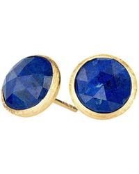 Marco Bicego - 18k Yellow Gold Lapis Stud Earrings - Lyst