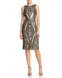 Adrianna Papell - Embellished Cocktail Dress - Lyst