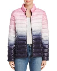 Aqua - Packable Ombré Puffer Coat - Lyst