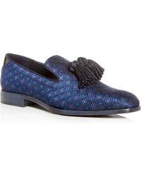 7854de985b4 Lyst - Jimmy Choo Foxley Men s Glitter Leopard-print Tassel Loafer ...