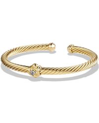 David Yurman - Renaissance Bracelet With Diamonds In 18k Gold - Lyst