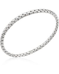 Chimento - 18k White Gold Stretch Spring Bracelet - Lyst