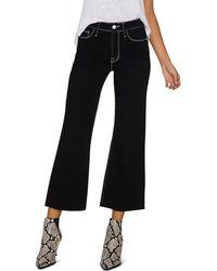 Sanctuary - Non Conformist Contrast Cropped Wide-leg Jeans In Eyeliner - Lyst