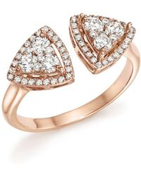 Bloomingdale's - Diamond Geometric Open Cluster Ring In 14k Rose Gold, .65 Ct. T.w. - Lyst