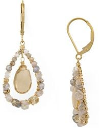 Dana Kellin - Floating Stone Drop Earrings - Lyst