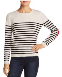 Kate Spade - Heart-patch Striped Jumper - Lyst