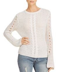 Aqua - Cable-knit Detail Sweater - Lyst