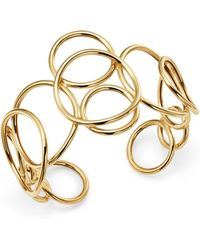 Bloomingdale's - Polished Circle Link Cuff In 14k Yellow Gold - Lyst