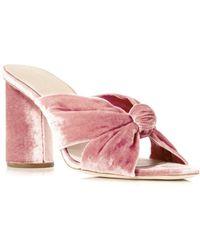 Loeffler Randall - Coco Velvet High-heel Slide Sandals - Lyst