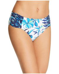Tommy Bahama - Tropical High Waist Shirred Hipster Bikini Bottom - Lyst