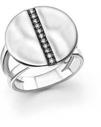 Ippolita - Sterling Silver Sensotm Split Band Disc Ring With Diamonds - Lyst