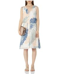 Reiss - Sirus Leaf Print Dress - Lyst