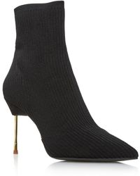 Kurt Geiger - Women's Barbican Pointed Toe Knit Booties - Lyst