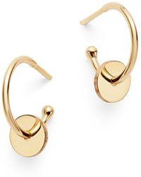 Zoe Chicco - 14k Yellow Gold Washer Huggie Hoop Earrings - Lyst