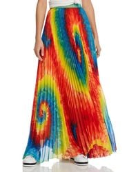 aa7304179b Alice + Olivia - Alice + Olivia Shannon Tie - Dye Pleated Maxi Skirt - Lyst
