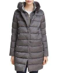 Herno - Fox Fur Trim Down Coat - Lyst