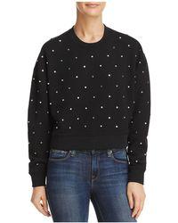 Aqua - Studded Sweatshirt - Lyst
