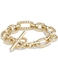 David Yurman - Chain Cushion Link Bracelet With Diamonds In 18k Gold - Lyst