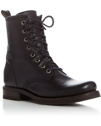 Frye - Veronica Lace Up Combat Booties - Lyst