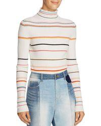SJYP - Striped Turtleneck Sweater - Lyst