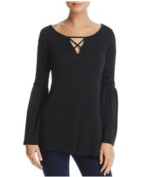 Love Scarlett - Lace-up Bell Sleeve Top - Lyst