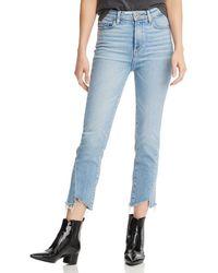 PAIGE - Hoxton High - Rise Slim Crop Jeans In Carlotta - Lyst