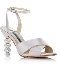 03eaa7481f86 Lyst - MICHAEL Michael Kors Natalia Leather Platform Sandals in White