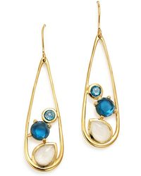 Ippolita - 18k Yellow Gold Rock Candy® Multi Stone Doublet Drop Earrings In Raindrop - Lyst