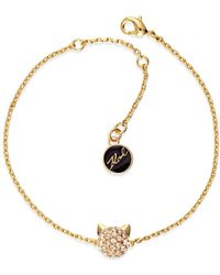 Karl Lagerfeld - Mini Crystal Choupette Bracelet - Lyst