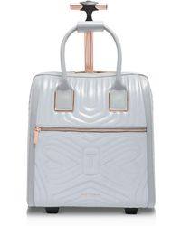 Ted Baker | Clariaa Reflective Quilted Bow Carry-on | Lyst