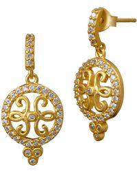 Freida Rothman - Open Filigree Drop Earrings - Lyst