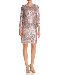 Aqua - Sequined Shift Dress - Lyst