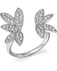 Bloomingdale's - Diamond Open Leaf Ring In 14k White Gold, .60 Ct. T.w. - Lyst