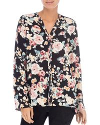 B Collection By Bobeau - Cristy Pleat Back Floral Top - Lyst