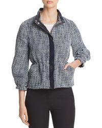 Donna Karan - New York Textured Zip Jacket - Lyst