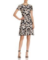 St. John - Floral Jacquard-knit Dress - Lyst
